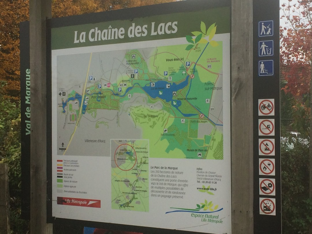 Petite promenade en vélo au Parc du Héron à Villeneuve d'ascq