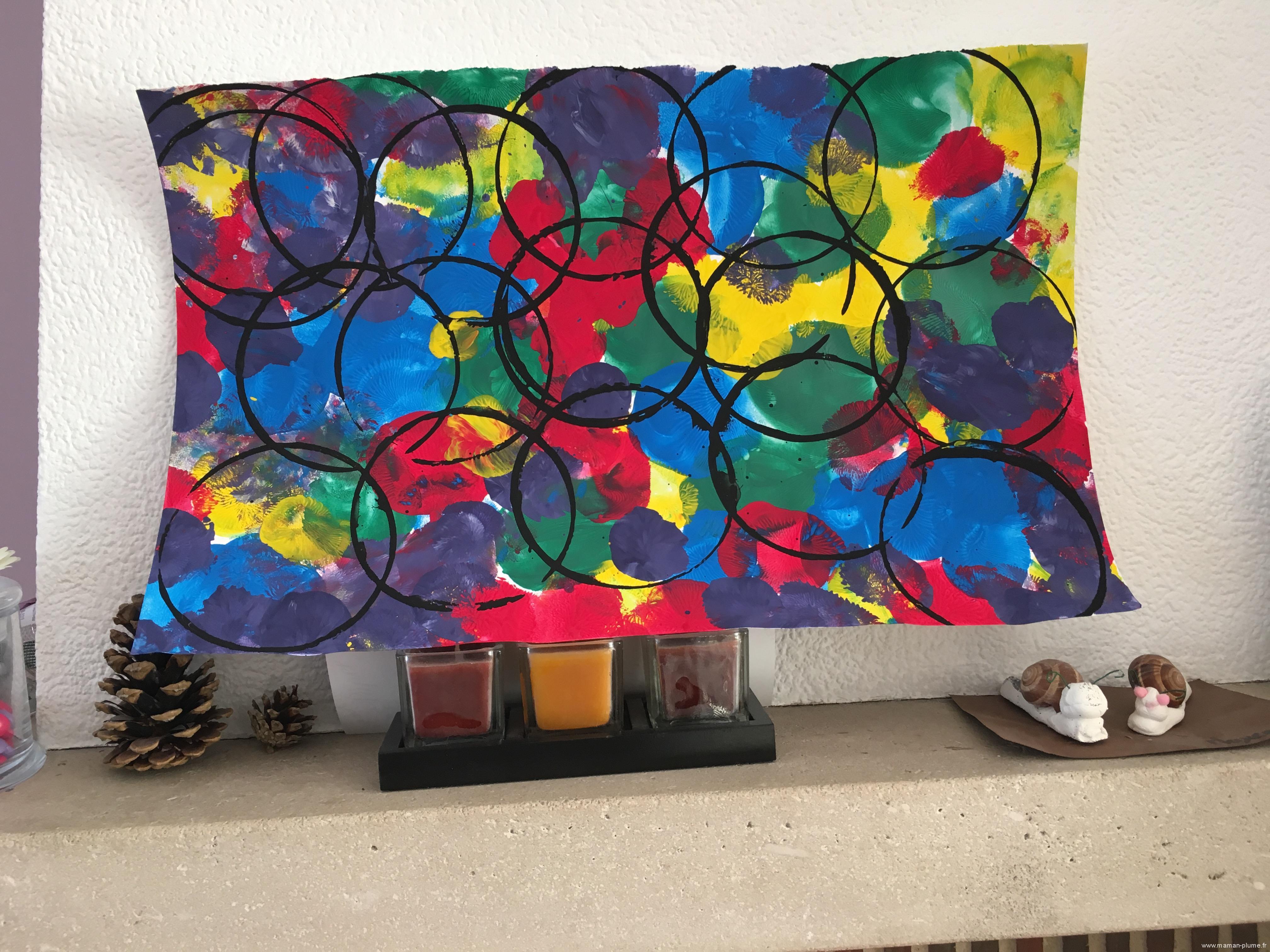 Peinture avec un ballon de baudruche le blog de maman plume for Peindre avec un pistolet a peinture