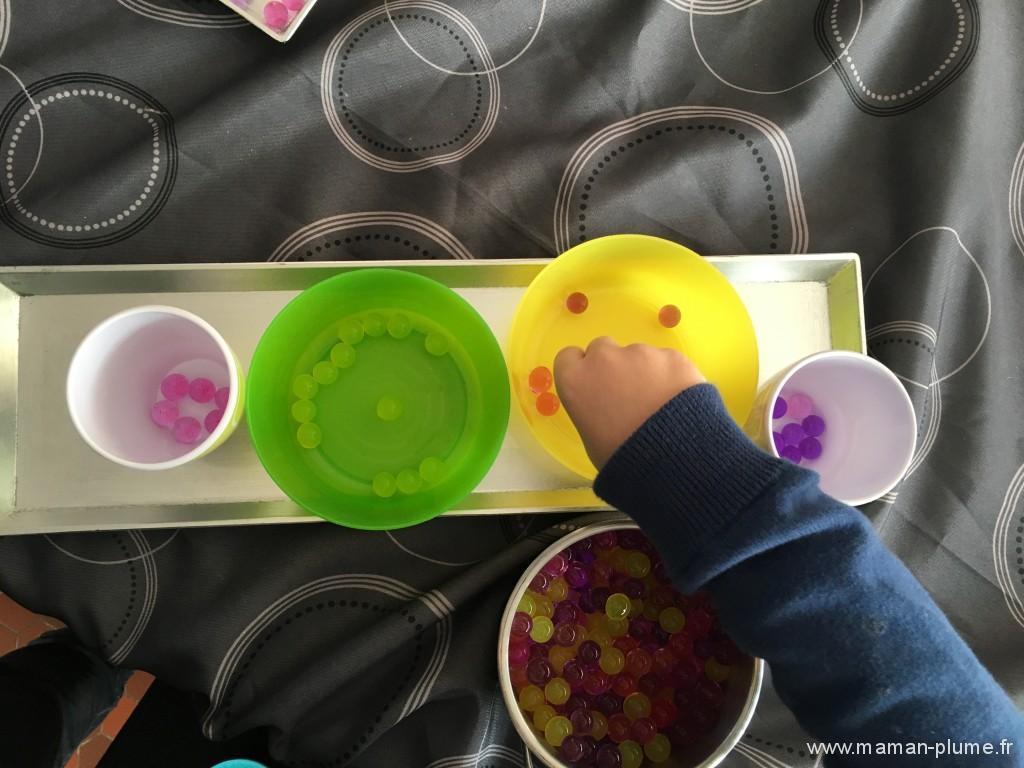 Perle d'eau colorie