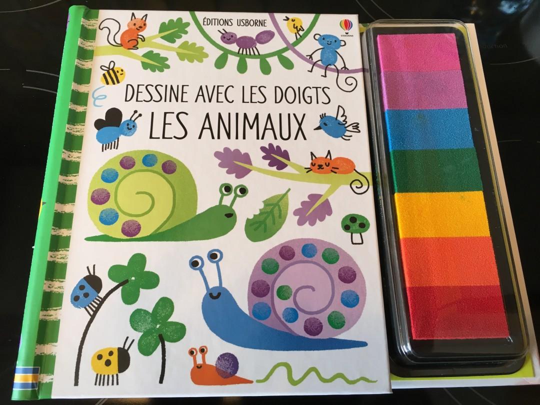 Dessine avec les doigts les animaux – Editions Usborne