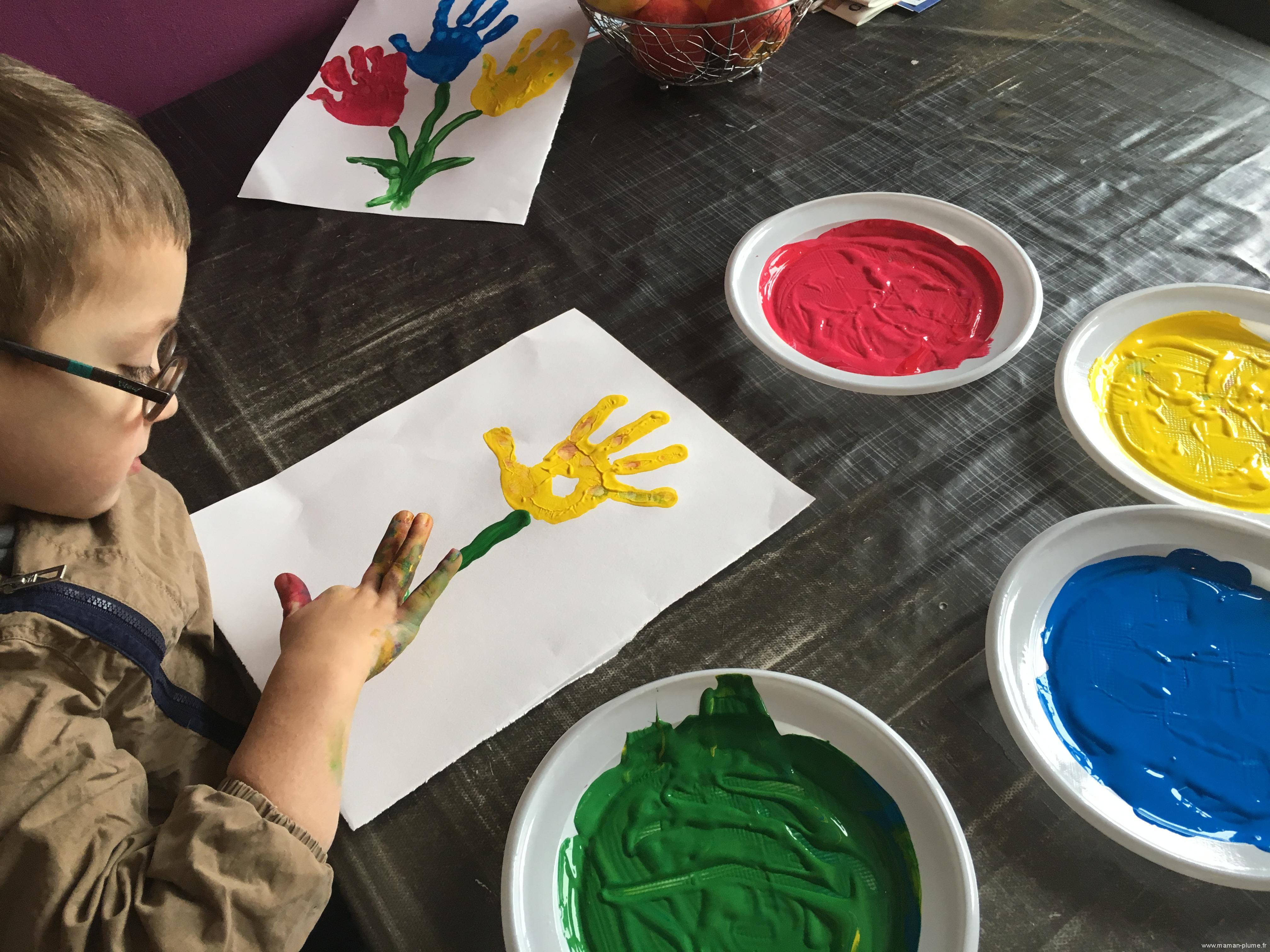 Activité Peinture Fleurs à la Main
