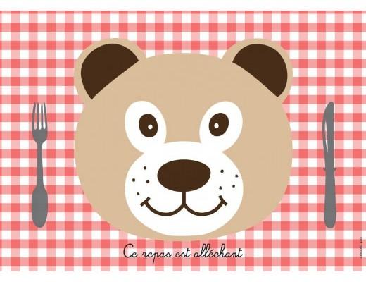 Set De Table Enfant : Ours de Décolopio