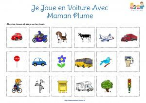 Fiche Route Jeu Maman Plume