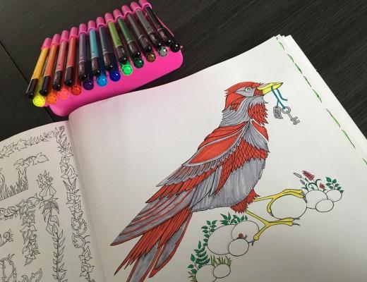 Les coloriages anti-stress et les crayons Ulmann