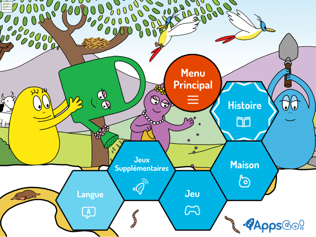 Menu Barbapapa