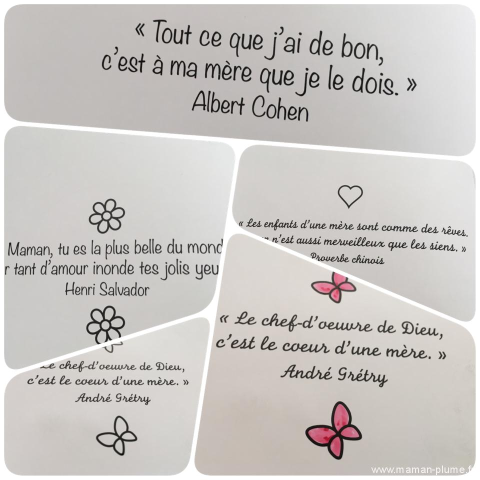 Message Fete Des Mere Coloriage Le Blog De Maman Plume