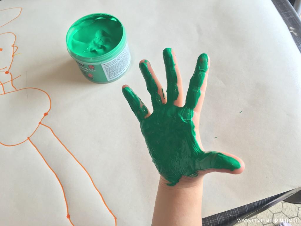 activite fete papa mains