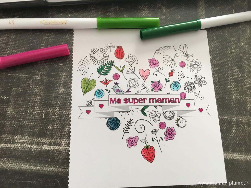 carte fete des mere coloriage
