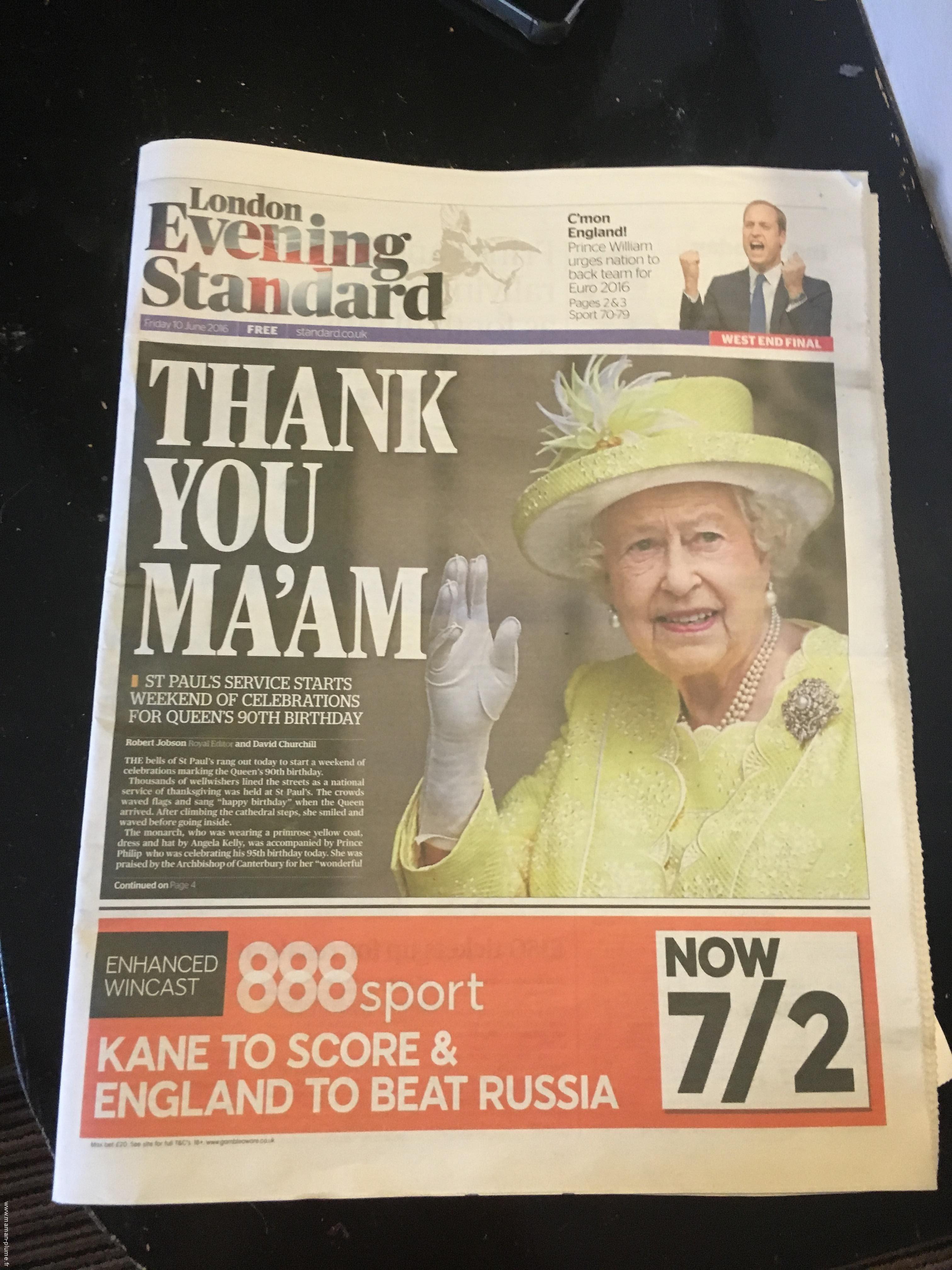 anniversaire de la reine - londres