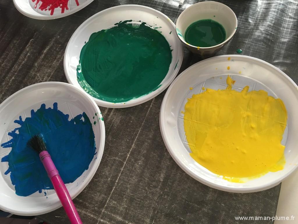 materiel peinture paille