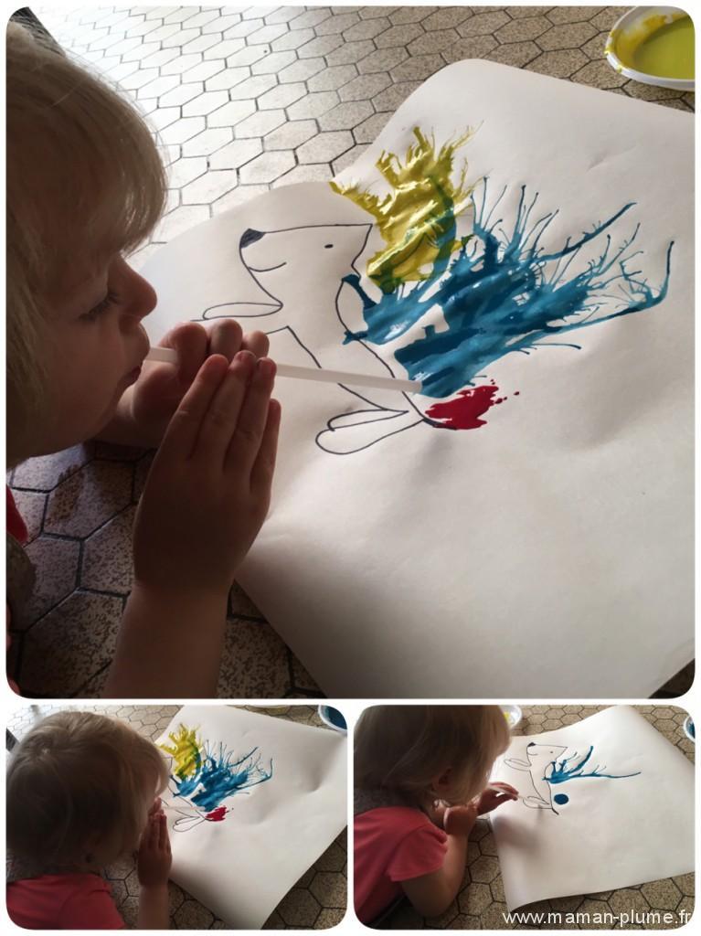 peinture paille herisson