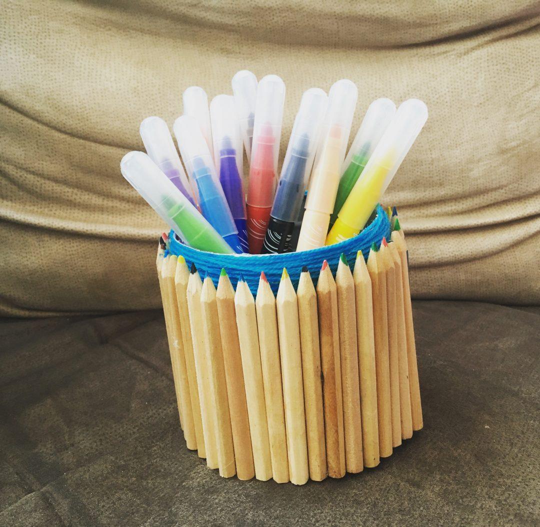 Le pot à crayons en crayons – DIY