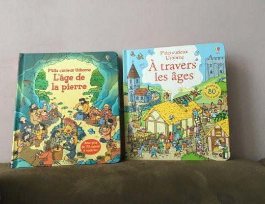 Livre P'tits Curieux – Voyage à travers les âge avec Usborne