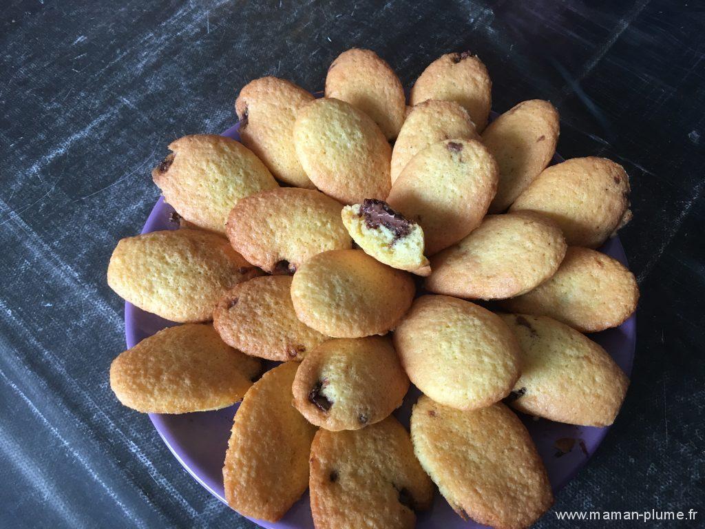 fin recette madeleine nutella