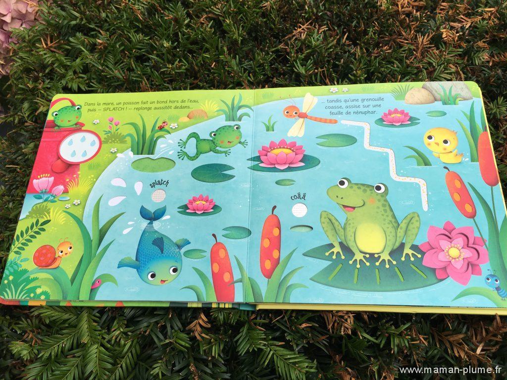 les bruits du jardin - Usborne page grenouille