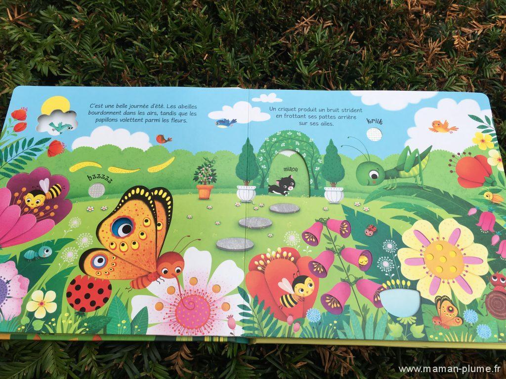 Livre sonore les bruits du jardin usborne le blog de for Blythe le jardin de maman