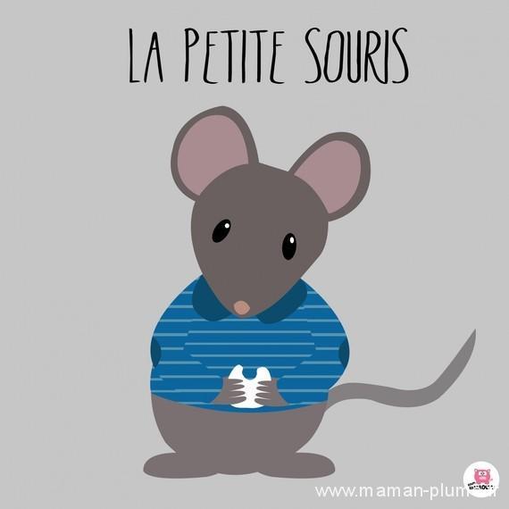 Quand la petite souris passe prendre les dents de lait - Dessin de petite souris ...