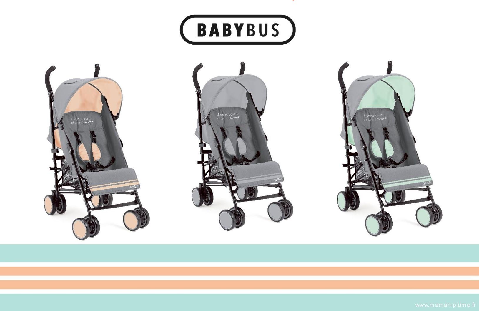 Les nouvelles poussettes canne diabolo de babybus le for Autour de bebe portet