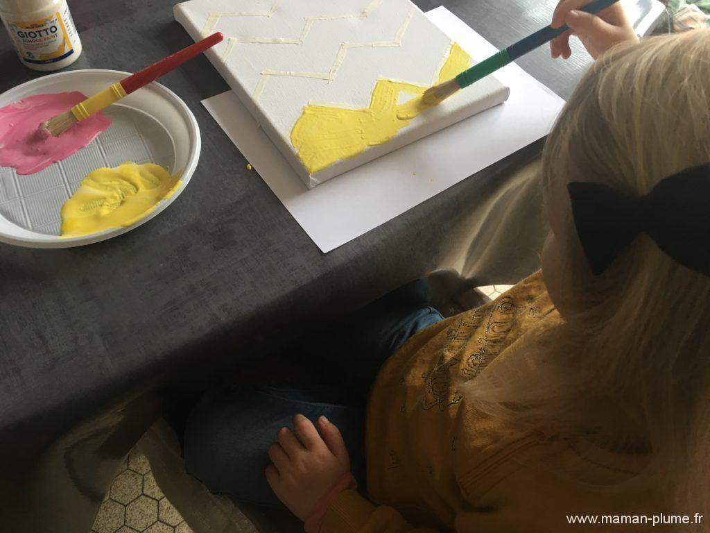 D co diy mon tableau de p ques le blog de maman plume for Peindre un tableau