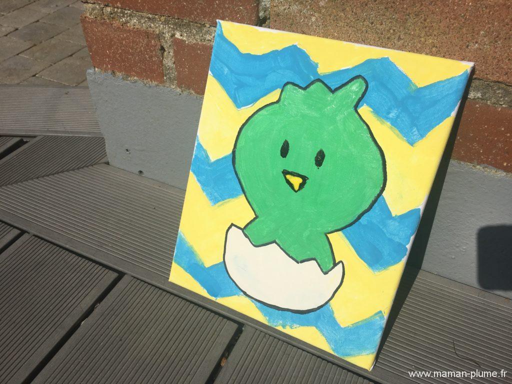 Déco DIY, mon tableau de Pâques