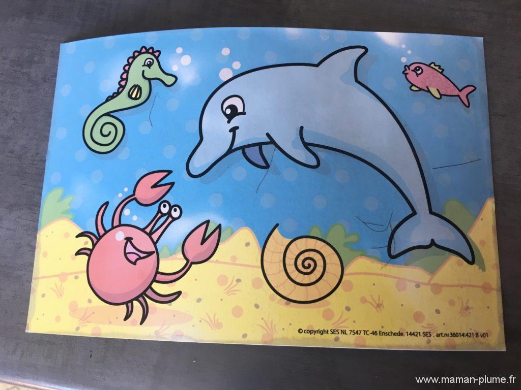 Je colorie à l'eau avec SES Créative