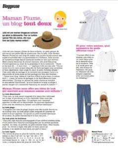 Maman Plume dans le magazine Femina
