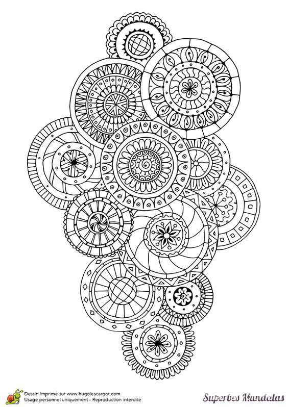Coloriage Mandala Rond.Coloriage Adulte Mandala Rond Le Blog De Maman Plume