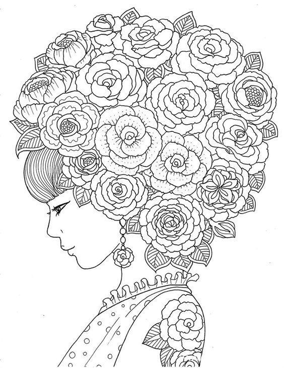 14 coloriages adultes pour s 39 vader le blog de maman plume - Coloriage fleur tres jolie ...