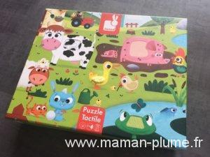 Un puzzle tactile complètement animaux – Janod