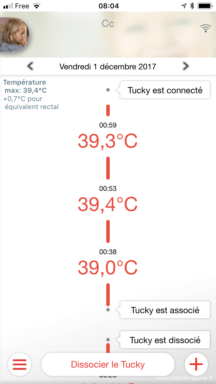 J'ai tester le thermomètre bébé Tucky