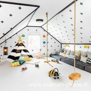 Idées Déco - Aménager une chambre d\'enfant sous les combles ...