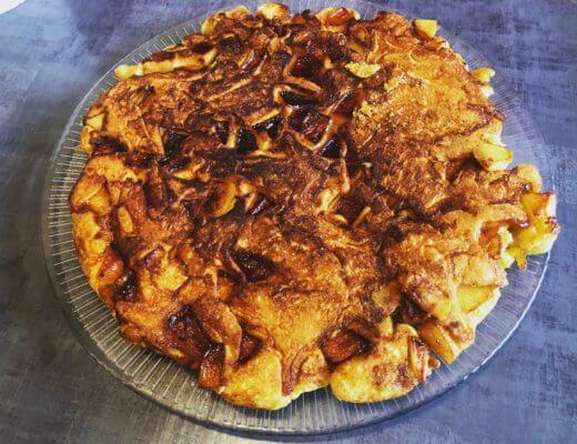 La recette de mon gâteau aux pommes Caramélisées à la poêle !