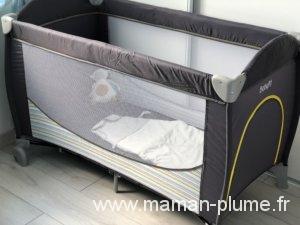 le lit de b b en vadrouille le blog de maman plume. Black Bedroom Furniture Sets. Home Design Ideas