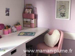 Une petite chambre fille totalement girly et licorne - Poubelle bureau fille ...