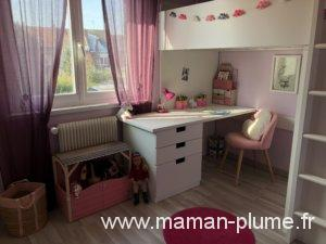 une petite chambre fille totalement girly et licorne le blog de maman plume. Black Bedroom Furniture Sets. Home Design Ideas