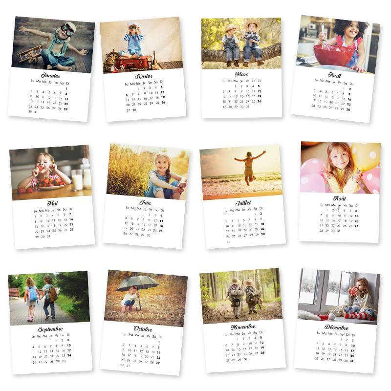 Magnet Photo Personnalise Collection Retro Calendrier 2017