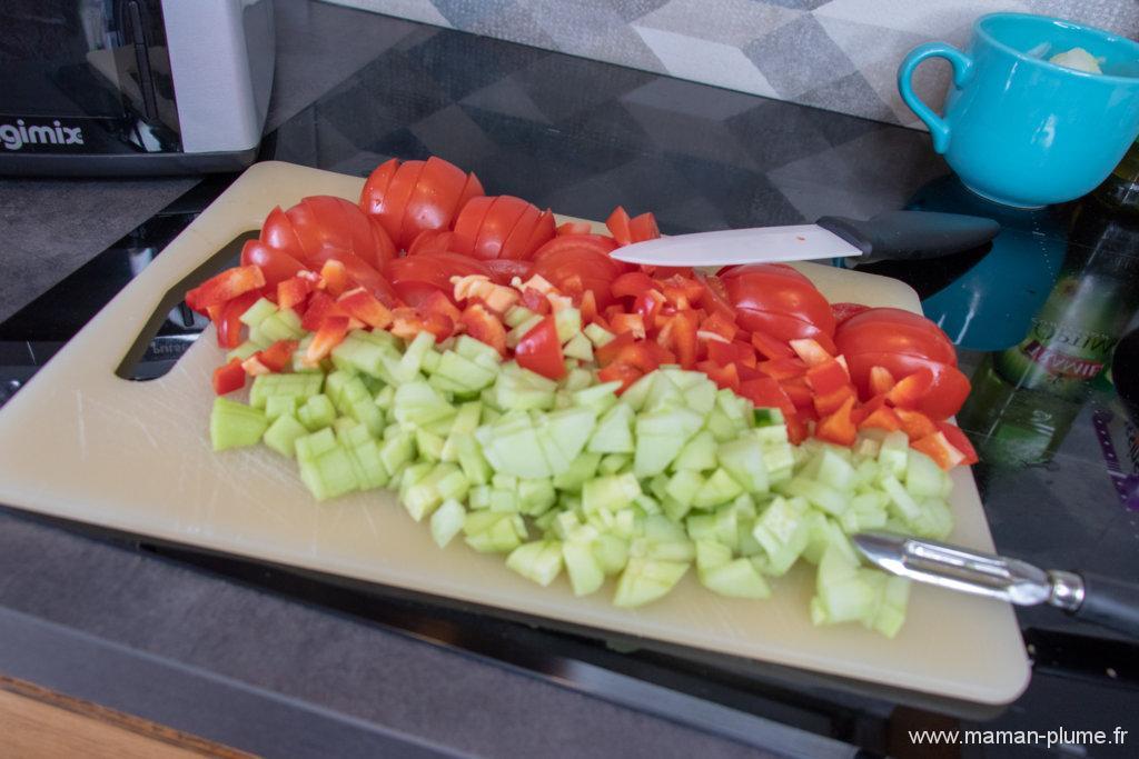 Faire rapidement un Gaspacho avec le Cook Expert