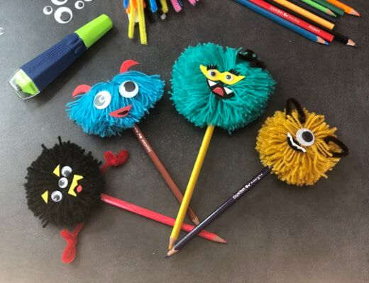 DIY, mes crayons pompons Monstres !