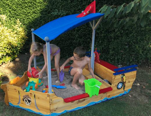 Notre bac à sable bateau pirate