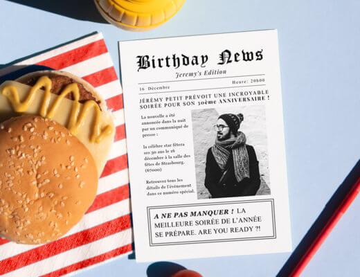 Quelles informations mettre sur votre invitation d'anniversaire ?