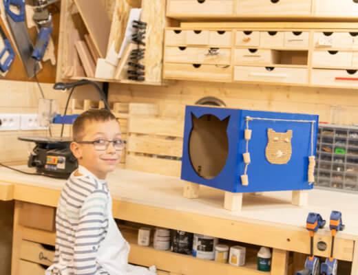 Un atelier bricolage père fils chez Leroy Merlin
