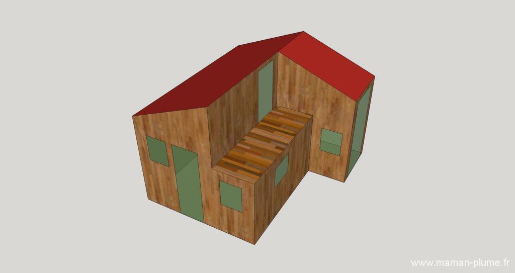 La conception de notre maisonnette en bois