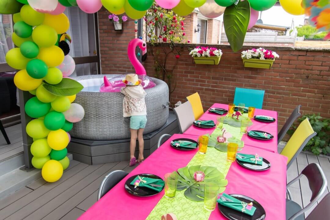 Une décoration tropicale pour les 1 ans de bébé !