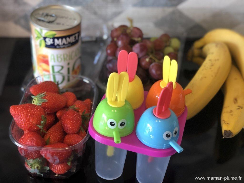 Recette, nos glaces aux fruits !