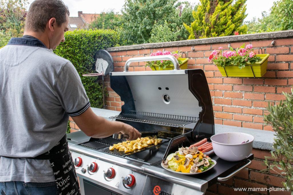 Première recette avec notre barbecue à gaz Somagic