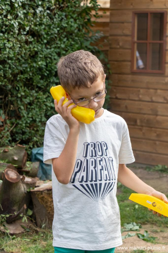 Les accessoires de notre cabane de jardin pour enfants