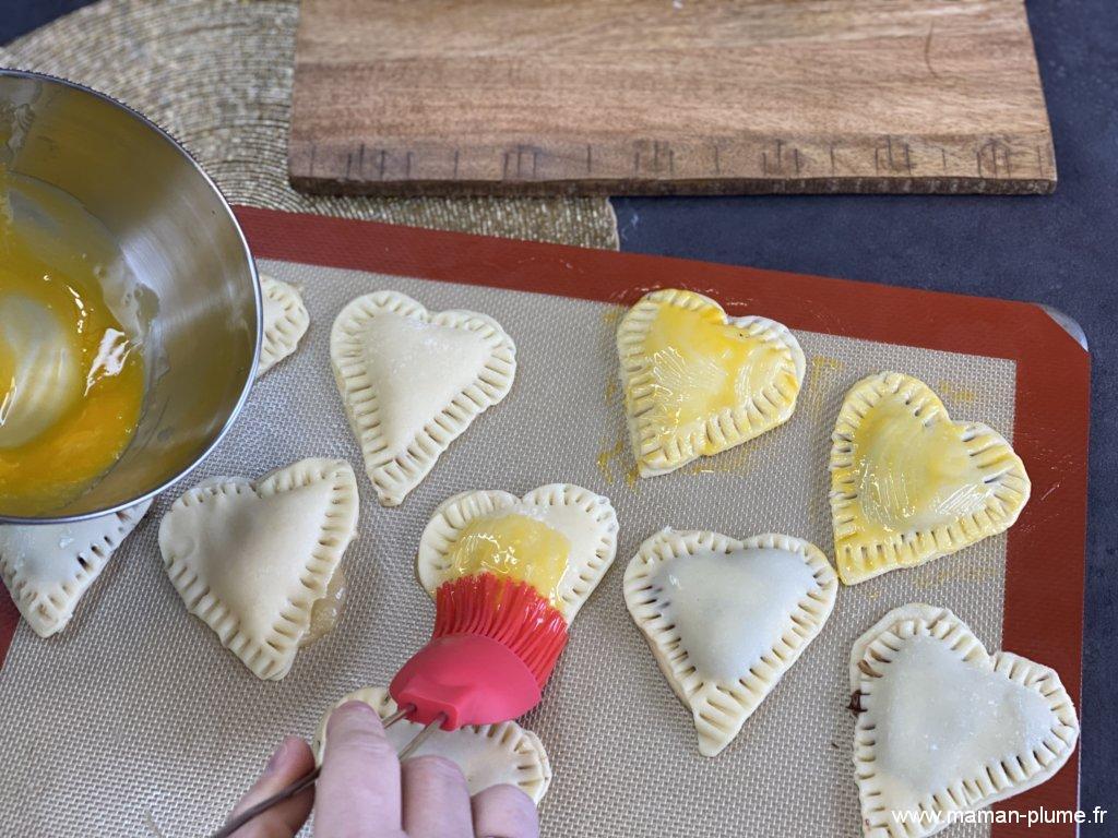 Recette St-Valentin, coeurs au chocolat !