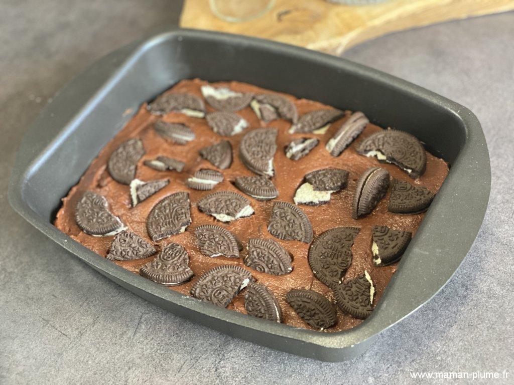La recette du gâteau chocolat / oreo !