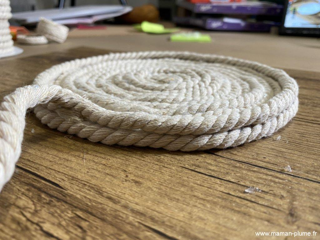 Je fabrique mon panier Bohème en corde, DIY facile !